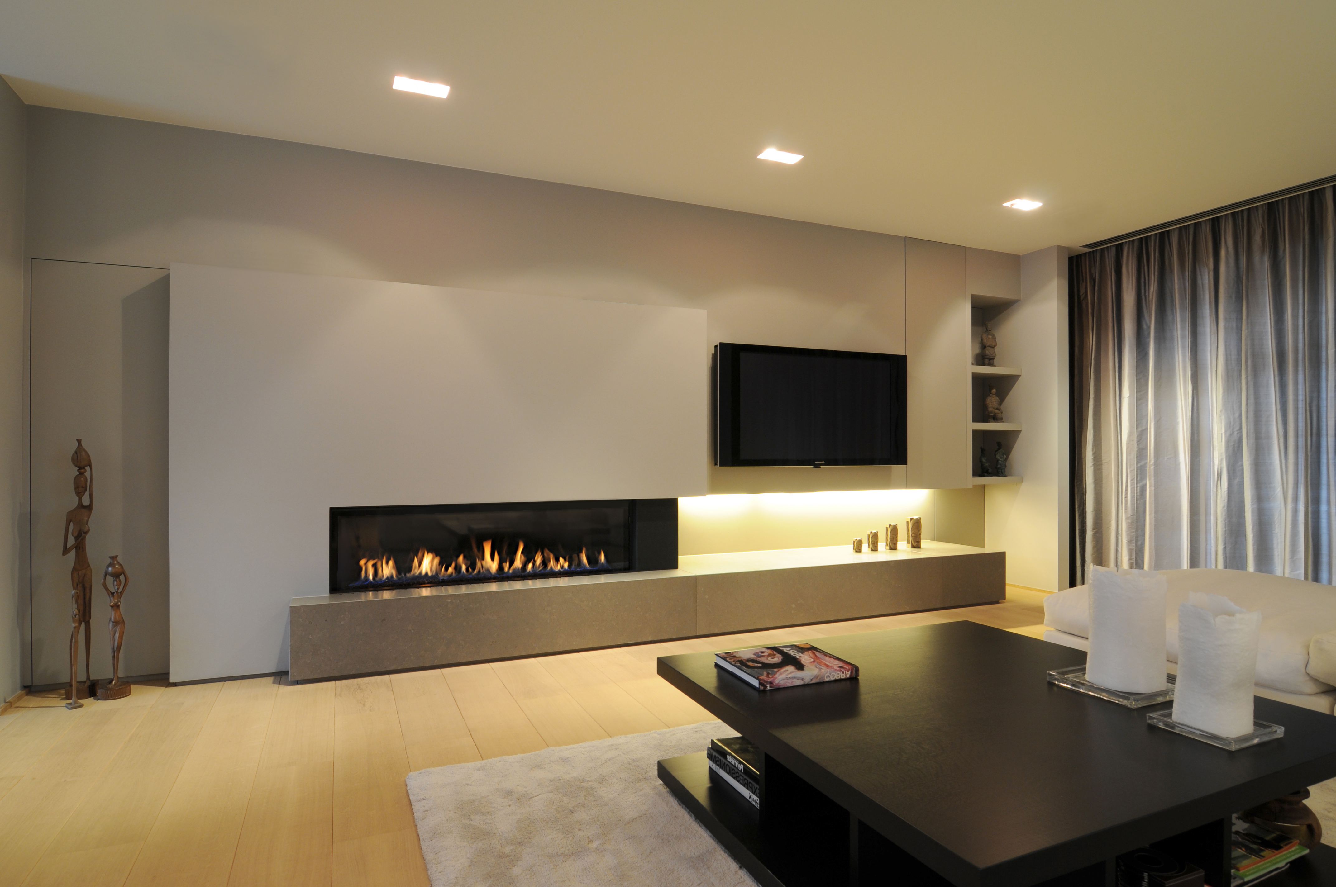 photos de chemin es au gaz m design aspen po les. Black Bedroom Furniture Sets. Home Design Ideas